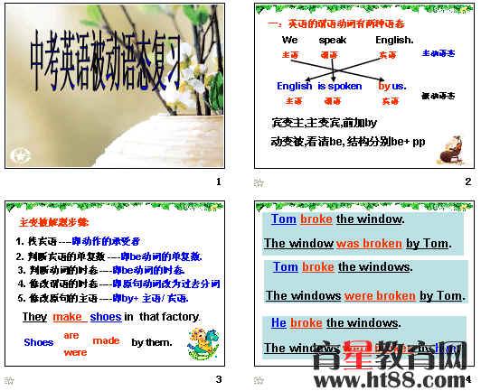 初中英语功夫熊猫板书设计
