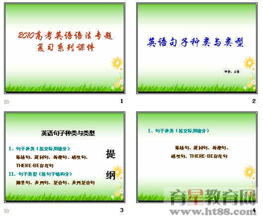 系列课件:英语句子种类与