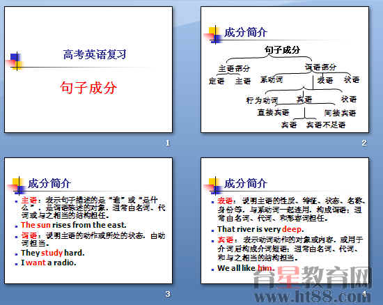 现代汉语:句子成分分析-我被他打
