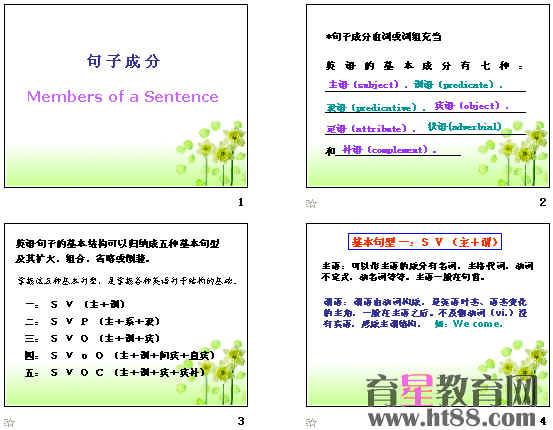 英语句子成分排序-余下全文>>