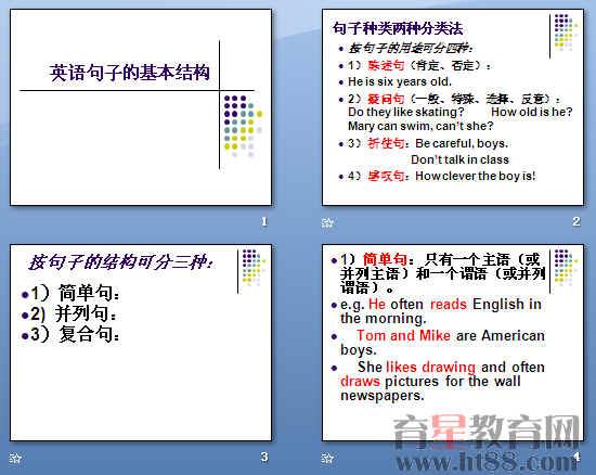 英语句子的基本结构ppt