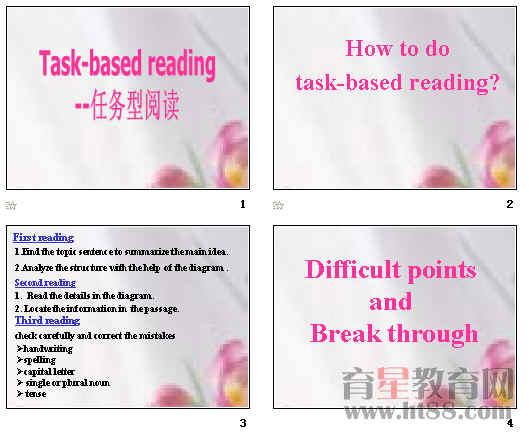 高中英语任务型阅读指导课件ppt1