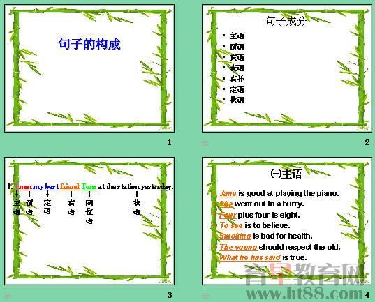 高中英语句子成分分析ppt1