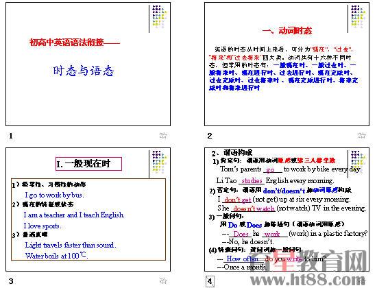 初高中英语语法衔接——时态与语态ppt