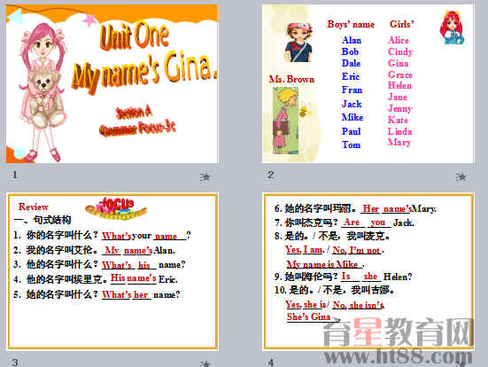 《My name's Gina》ppt79